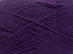 Fiber Content 50% Wool, 50% Acrylic, Purple, Brand ICE, Yarn Thickness 4 Medium  Worsted, Afghan, Aran, fnt2-42543