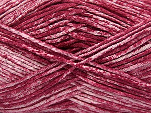 Strong pure cotton yarn in beautiful colours, reminiscent of bleached denim. Machine washable and dryable. Fiber Content 100% Cotton, White, Orchid, Brand ICE, Yarn Thickness 3 Light  DK, Light, Worsted, fnt2-42566