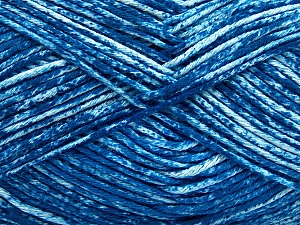 Strong pure cotton yarn in beautiful colours, reminiscent of bleached denim. Machine washable and dryable. Fiber Content 100% Cotton, White, Brand ICE, Blue, Yarn Thickness 3 Light  DK, Light, Worsted, fnt2-42573