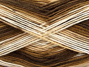 Fiber Content 100% AntiBacterial Micro Dralon, Brand ICE, Cream, Brown Shades, Yarn Thickness 2 Fine  Sport, Baby, fnt2-42644