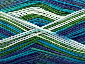 Fiber Content 100% AntiBacterial Micro Dralon, White, Turquoise, Purple, Brand ICE, Green, Yarn Thickness 2 Fine  Sport, Baby, fnt2-42650