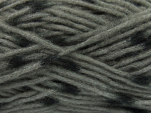 Make a knot on the spots part of the yarn while knitting to give a pompom look. Fiber Content 82% Acrylic, 18% Polyamide, Brand ICE, Grey, Black, Yarn Thickness 5 Bulky  Chunky, Craft, Rug, fnt2-42685