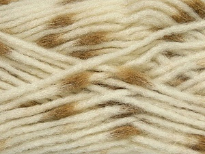 Make a knot on the spots part of the yarn while knitting to give a pompom look. Fiber Content 82% Acrylic, 18% Polyamide, White, Light Brown, Brand ICE, Yarn Thickness 5 Bulky  Chunky, Craft, Rug, fnt2-42689