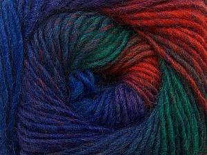 Fiber Content 70% Dralon, 30% Wool, Brand Ice Yarns, Green, Copper, Blue Shades, Yarn Thickness 4 Medium  Worsted, Afghan, Aran, fnt2-42773