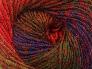 Fiber Content 70% Dralon, 30% Wool, Red, Purple, Brand Ice Yarns, Green Shades, Brown Shades, Yarn Thickness 4 Medium  Worsted, Afghan, Aran, fnt2-42775