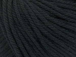 SUPERWASH WOOL BULKY is a bulky weight 100% superwash wool yarn. Perfect stitch definition, and a soft-but-sturdy finished fabric. Projects knit and crocheted in SUPERWASH WOOL BULKY are machine washable! Lay flat to dry. Fiber Content 100% Superwash Wool, Brand ICE, Black, Yarn Thickness 5 Bulky  Chunky, Craft, Rug, fnt2-42818