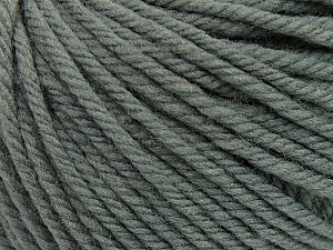 SUPERWASH WOOL BULKY is a bulky weight 100% superwash wool yarn. Perfect stitch definition, and a soft-but-sturdy finished fabric. Projects knit and crocheted in SUPERWASH WOOL BULKY are machine washable! Lay flat to dry. Fiber Content 100% Superwash Wool, Brand ICE, Dark Grey, Yarn Thickness 5 Bulky  Chunky, Craft, Rug, fnt2-42819