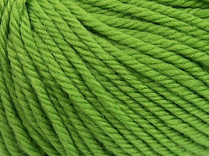 SUPERWASH WOOL BULKY is a bulky weight 100% superwash wool yarn. Perfect stitch definition, and a soft-but-sturdy finished fabric. Projects knit and crocheted in SUPERWASH WOOL BULKY are machine washable! Lay flat to dry. Fiber Content 100% Superwash Wool, Brand ICE, Green, Yarn Thickness 5 Bulky  Chunky, Craft, Rug, fnt2-42836