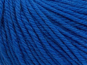SUPERWASH WOOL BULKY is a bulky weight 100% superwash wool yarn. Perfect stitch definition, and a soft-but-sturdy finished fabric. Projects knit and crocheted in SUPERWASH WOOL BULKY are machine washable! Lay flat to dry. Fiber Content 100% Superwash Wool, Brand ICE, Blue, Yarn Thickness 5 Bulky  Chunky, Craft, Rug, fnt2-42841