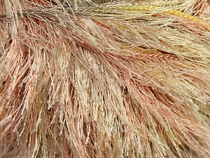 Fiber Content 100% Polyester, Yellow, Light Salmon, Brand ICE, Beige, Yarn Thickness 5 Bulky  Chunky, Craft, Rug, fnt2-42902