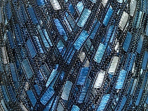 Trellis  Fiber Content 100% Polyester, Brand Ice Yarns, Blue Shades, Yarn Thickness 5 Bulky  Chunky, Craft, Rug, fnt2-42903