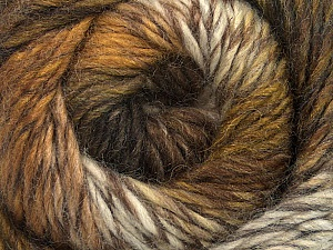Fiber Content 70% Dralon, 30% Wool, White, Brand ICE, Brown Shades, Yarn Thickness 4 Medium  Worsted, Afghan, Aran, fnt2-43319