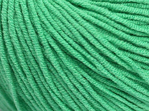 Fiber Content 50% Acrylic, 50% Cotton, Brand ICE, Emerald Green, Yarn Thickness 3 Light  DK, Light, Worsted, fnt2-43837