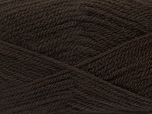 Fiber Content 100% Premium Acrylic, Brand ICE, Dark Brown, Yarn Thickness 3 Light  DK, Light, Worsted, fnt2-43838