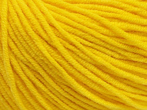 Fiber Content 50% Cotton, 50% Acrylic, Yellow, Brand ICE, Yarn Thickness 3 Light  DK, Light, Worsted, fnt2-43861