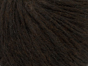 Fiber Content 27% Acrylic, 23% Wool, 23% Nylon, 15% Alpaca Superfine, 12% Viscose, Brand ICE, Dark Brown, Yarn Thickness 4 Medium  Worsted, Afghan, Aran, fnt2-44004