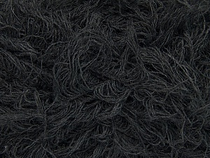 Fiber Content 6% Polyamide, 46% Acrylic, 29% Wool, 19% Viscose, Brand ICE, Dark Grey, Yarn Thickness 6 SuperBulky  Bulky, Roving, fnt2-44301