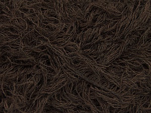 Fiber Content 6% Polyamide, 46% Acrylic, 29% Wool, 19% Viscose, Brand ICE, Dark Brown, Yarn Thickness 6 SuperBulky  Bulky, Roving, fnt2-44304
