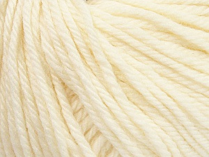SUPERWASH WOOL BULKY is a bulky weight 100% superwash wool yarn. Perfect stitch definition, and a soft-but-sturdy finished fabric. Projects knit and crocheted in SUPERWASH WOOL BULKY are machine washable! Lay flat to dry. Fiber Content 100% Superwash Wool, Brand ICE, Cream, Yarn Thickness 5 Bulky  Chunky, Craft, Rug, fnt2-44636