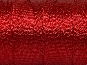 Fiber Content 100% Polyester, Brand ICE, Dark Red, Yarn Thickness 0 Lace  Fingering Crochet Thread, fnt2-44834