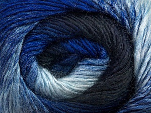 Fiber Content 50% Wool, 50% Acrylic, Brand ICE, Blue Shades, Yarn Thickness 2 Fine  Sport, Baby, fnt2-45313
