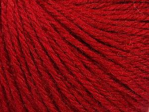 Fiber Content 40% Merino Wool, 40% Acrylic, 20% Polyamide, Brand ICE, Dark Red, Yarn Thickness 3 Light  DK, Light, Worsted, fnt2-45809