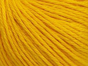 Fiber Content 40% Merino Wool, 40% Acrylic, 20% Polyamide, Yellow, Brand ICE, Yarn Thickness 3 Light  DK, Light, Worsted, fnt2-45814