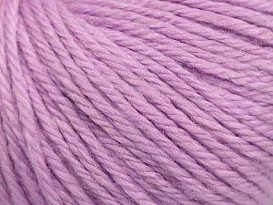Fiber Content 40% Merino Wool, 40% Acrylic, 20% Polyamide, Light Lilac, Brand ICE, Yarn Thickness 3 Light  DK, Light, Worsted, fnt2-45825