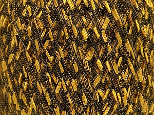 Fiber Content 100% Polyamide, Brand ICE, Gold, Black, Yarn Thickness 3 Light  DK, Light, Worsted, fnt2-45876