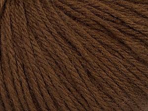Fiber Content 40% Merino Wool, 40% Acrylic, 20% Polyamide, Brand ICE, Brown, Yarn Thickness 3 Light  DK, Light, Worsted, fnt2-46037