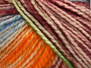 Fiber Content 75% Acrylic, 25% Wool, White, Orange, Maroon, Brand ICE, Green, Blue, Yarn Thickness 5 Bulky  Chunky, Craft, Rug, fnt2-46232