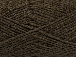 Fiber Content 50% Acrylic, 50% Wool, Brand ICE, Dark Brown, Yarn Thickness 4 Medium  Worsted, Afghan, Aran, fnt2-46643