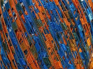 Trellis  Fiber Content 100% Polyester, White, Orange, Brand ICE, Blue, Yarn Thickness 5 Bulky  Chunky, Craft, Rug, fnt2-46668