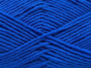 Fiber Content 50% Wool, 50% Acrylic, Brand ICE, Blue, Yarn Thickness 4 Medium  Worsted, Afghan, Aran, fnt2-46688
