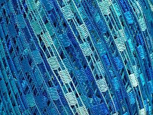 Trellis  Fiber Content 100% Polyester, Turquoise, Brand Ice Yarns, Blue Shades, fnt2-46692