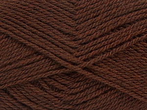 Fiber Content 60% Acrylic, 40% Wool, Brand ICE, Brown, Yarn Thickness 3 Light  DK, Light, Worsted, fnt2-46734