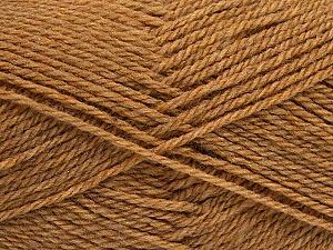 Fiber Content 60% Acrylic, 40% Wool, Light Brown, Brand ICE, Yarn Thickness 3 Light  DK, Light, Worsted, fnt2-46735
