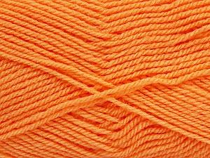 Fiber Content 60% Acrylic, 40% Wool, Brand ICE, Baby Orange, Yarn Thickness 3 Light  DK, Light, Worsted, fnt2-46749