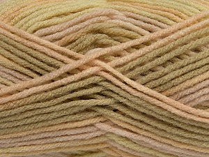 self-striping  Fiber Content 100% Acrylic, Yellow, Light Khaki, Brand ICE, Cream, fnt2-47122