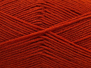 Fiber Content 55% Virgin Wool, 5% Cashmere, 40% Acrylic, Brand ICE, Dark Orange, Yarn Thickness 2 Fine  Sport, Baby, fnt2-47157