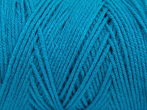 Items made with this yarn are machine washable & dryable. Fiber Content 100% Dralon Acrylic, Turquoise, Brand ICE, Yarn Thickness 4 Medium  Worsted, Afghan, Aran, fnt2-47186