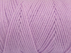 Items made with this yarn are machine washable & dryable. Fiber Content 100% Dralon Acrylic, Lilac, Brand ICE, Yarn Thickness 4 Medium  Worsted, Afghan, Aran, fnt2-47196