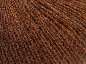 Fiber Content 70% Acrylic, 30% Wool, Brand ICE, Brown Melange, Yarn Thickness 2 Fine  Sport, Baby, fnt2-47268