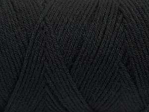 Items made with this yarn are machine washable & dryable. Fiber Content 100% Dralon Acrylic, Brand ICE, Black, Yarn Thickness 4 Medium  Worsted, Afghan, Aran, fnt2-47395