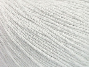 Fiber Content 100% Cotton, White, Brand ICE, Yarn Thickness 1 SuperFine  Sock, Fingering, Baby, fnt2-47512