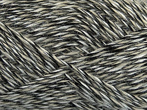 Fiber Content 60% Acrylic, 15% Wool, 15% Mohair, 10% Polyamide, White, Brand ICE, Black, Beige, fnt2-47837