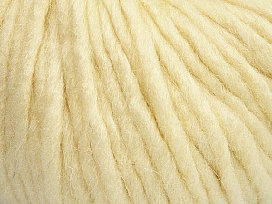Fiber Content 50% Merino Wool, 25% Acrylic, 25% Alpaca, Brand Ice Yarns, Cream, Yarn Thickness 6 SuperBulky  Bulky, Roving, fnt2-48097