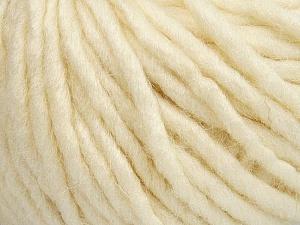 Fiber Content 50% Merino Wool, 25% Alpaca, 25% Acrylic, Brand Ice Yarns, Ecru, Yarn Thickness 6 SuperBulky  Bulky, Roving, fnt2-48098
