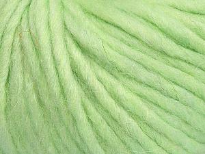 Fiber Content 50% Merino Wool, 25% Alpaca, 25% Acrylic, Light Green, Brand ICE, Yarn Thickness 6 SuperBulky  Bulky, Roving, fnt2-48099