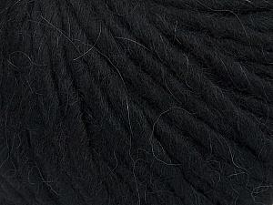 Fiber Content 50% Merino Wool, 25% Acrylic, 25% Alpaca, Brand Ice Yarns, Black, Yarn Thickness 6 SuperBulky  Bulky, Roving, fnt2-48178